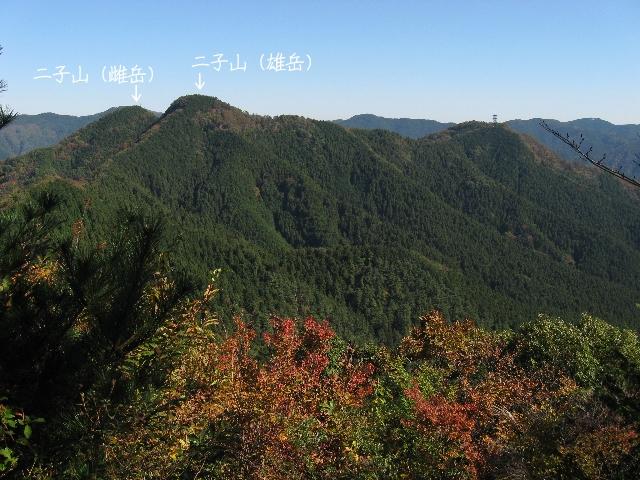 焼山から見た二子山
