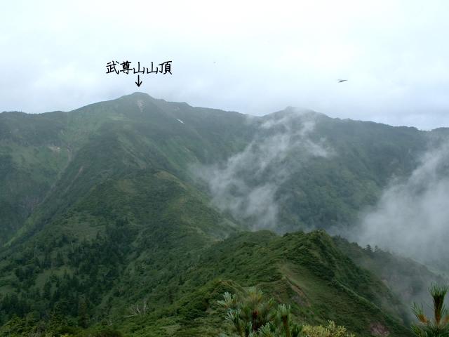 剣ヶ峰から見た武尊山