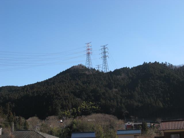 戸倉城山の登山ルートの写真