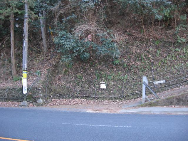 戸倉城山の登山口の写真