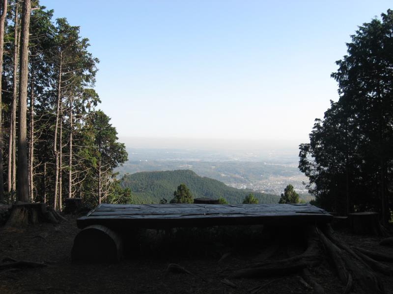 大高取山の山頂からの展望