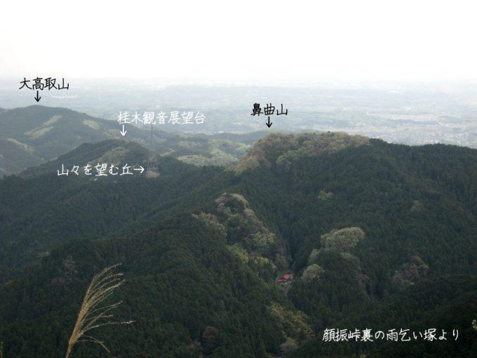 鼻曲山(雨乞い塚より)