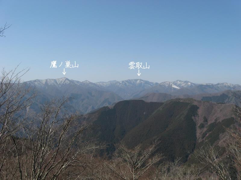 川乗山の山頂からの展望