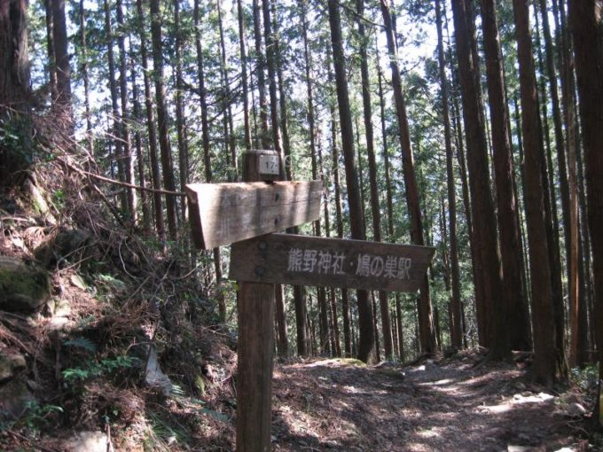 熊野神社への分岐