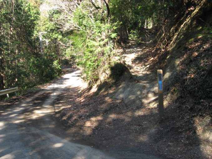 向かい側にある登山口