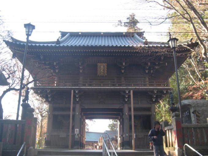 薬王院の入口にある門