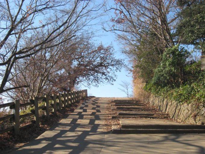 高尾山山頂への最後の登り坂