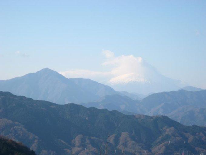 高尾山展望台からの富士山の眺め