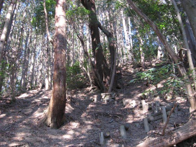 急斜面が続く登山道