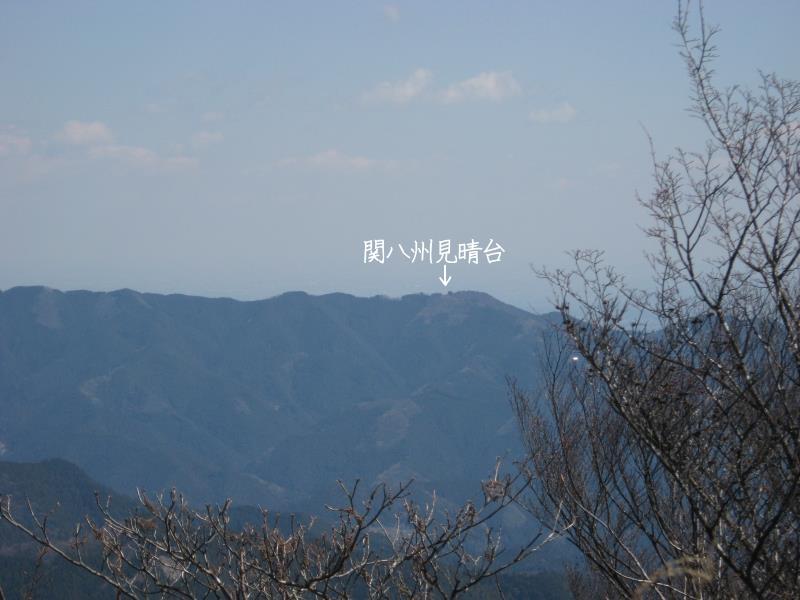 蕨山展望台から見える関八州見晴台