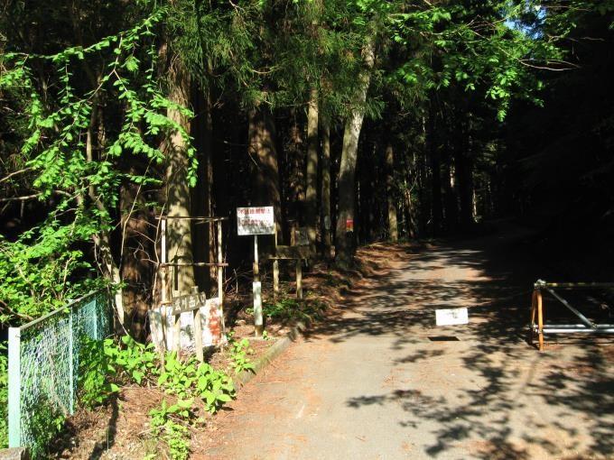 武川岳へ続く林道の入口