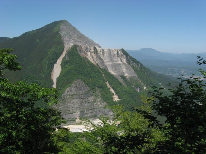 焼山山頂から見た武甲山
