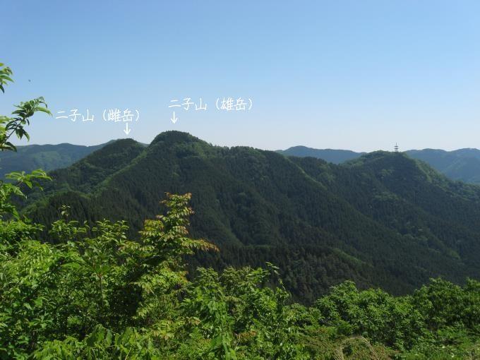 焼山から見た二子山方面