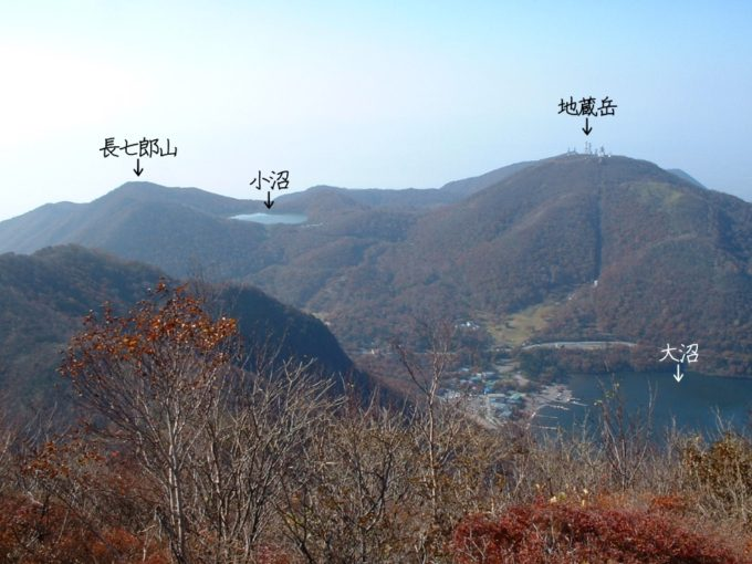 地蔵岳と長七郎山(黒檜山登山道より)