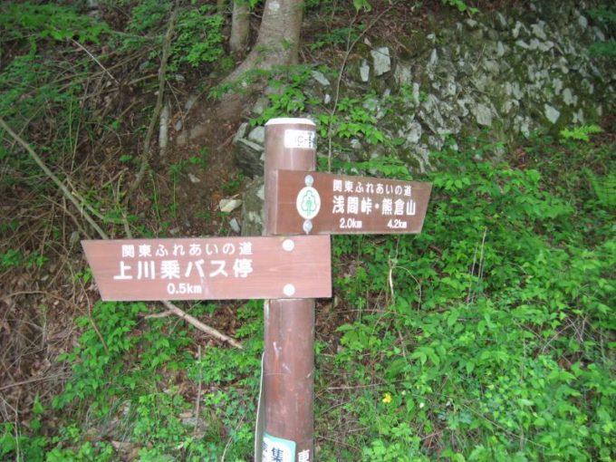 生藤山登山口にある案内板