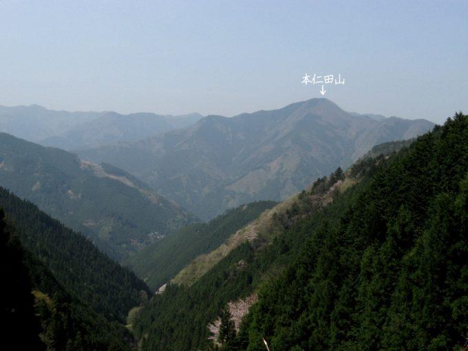 本仁田山(鋸山林道より)