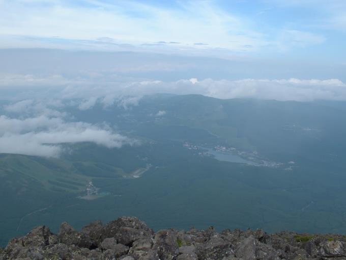 蓼科山山頂からの展望