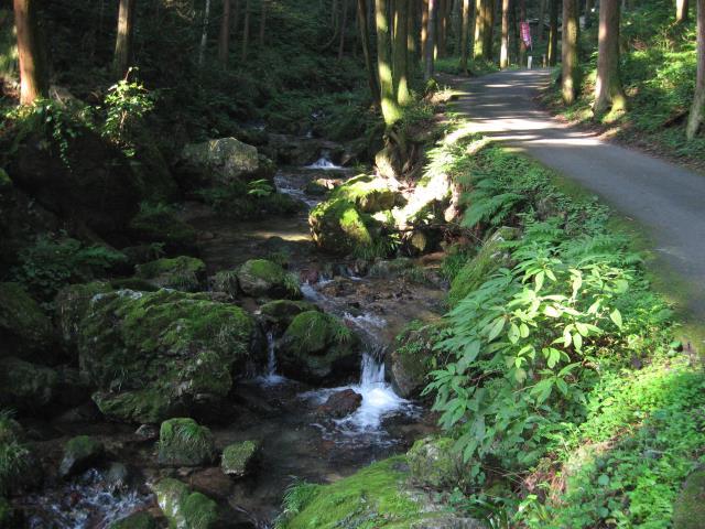 黒山三滝から流れてくる川