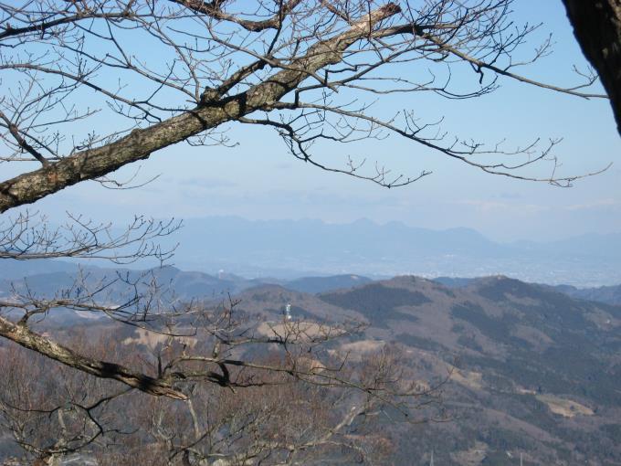 笠山(東峰)から見える榛名山