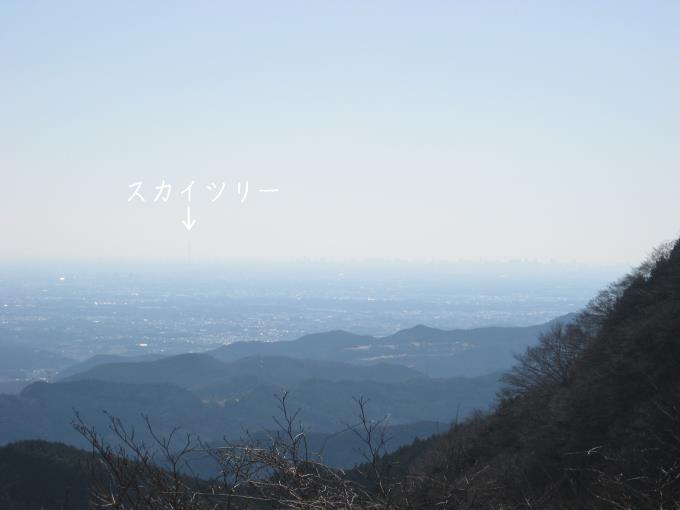 七重峠から都心の眺望は素晴らしい。