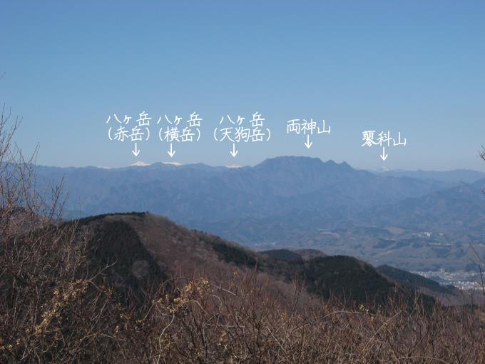 八ヶ岳と両神山