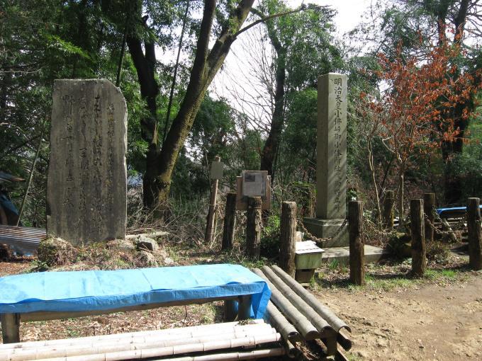 明治天皇が立ち寄ったことを記念する石碑