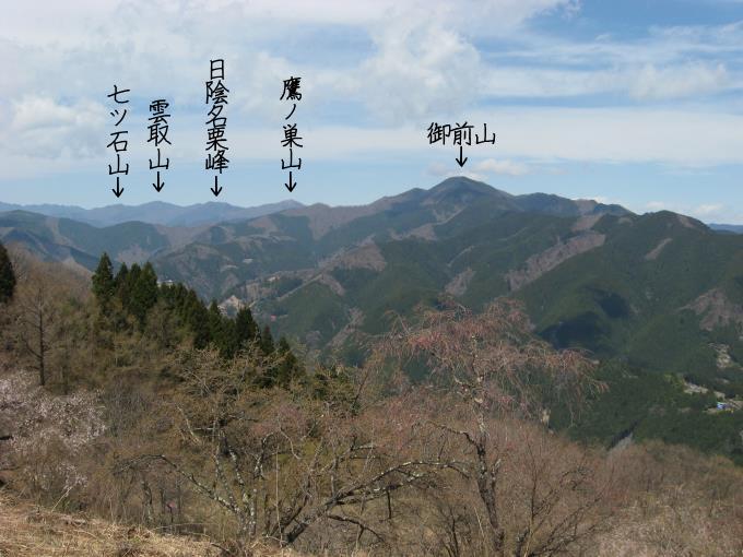 浅間嶺から見た雲取山方面