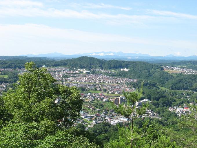 神奈川県の丹沢方面の展望