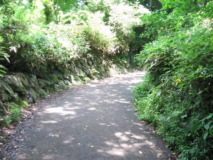 天覧山中段への道