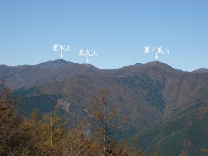 雲取山方面の眺め
