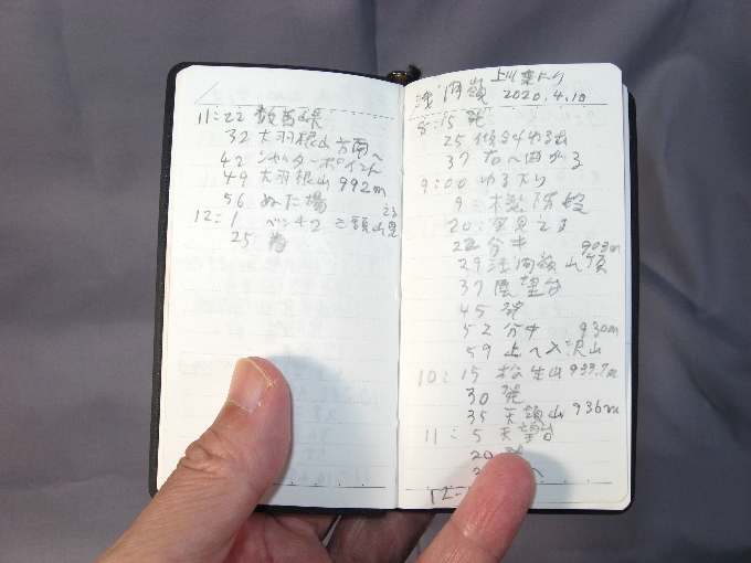 登山記録ページ