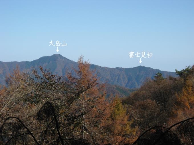 土俵岳からみた大岳山と富士見台