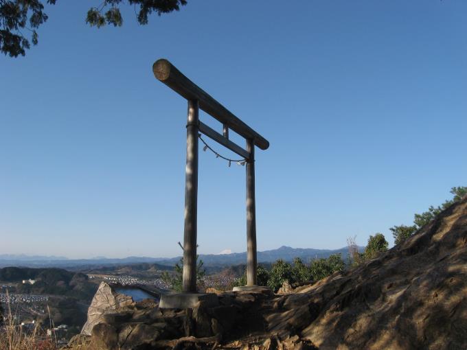 日和田山前の展望スポット