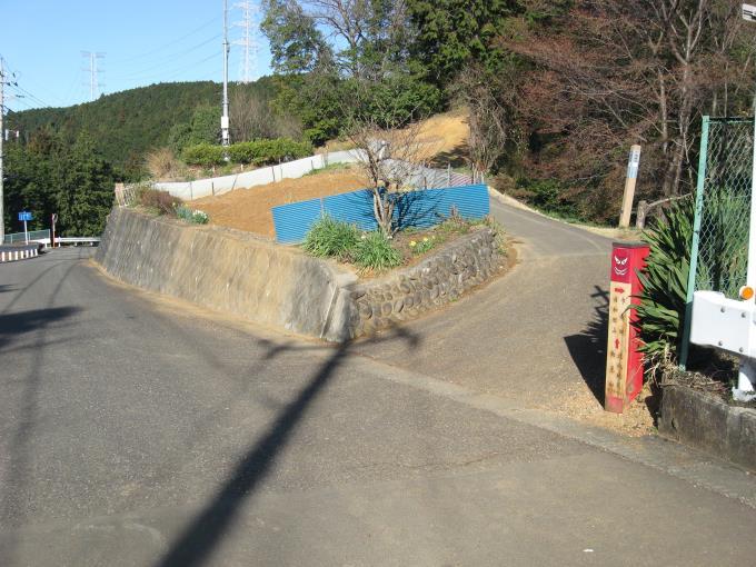 「ふじみや」の先の登山口