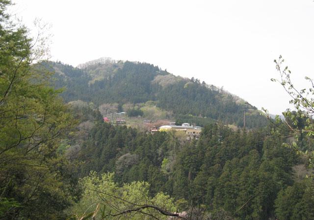 登山道から見た嵐山