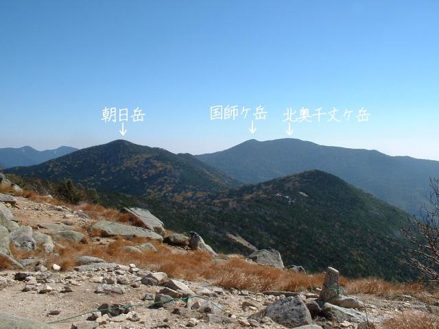 金峰山登山道より