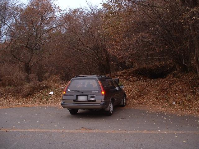 路肩にある駐車スペース
