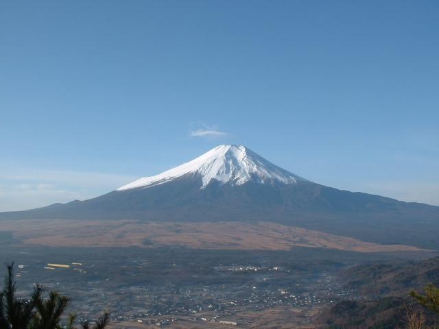 杓子山山頂から見た富士山