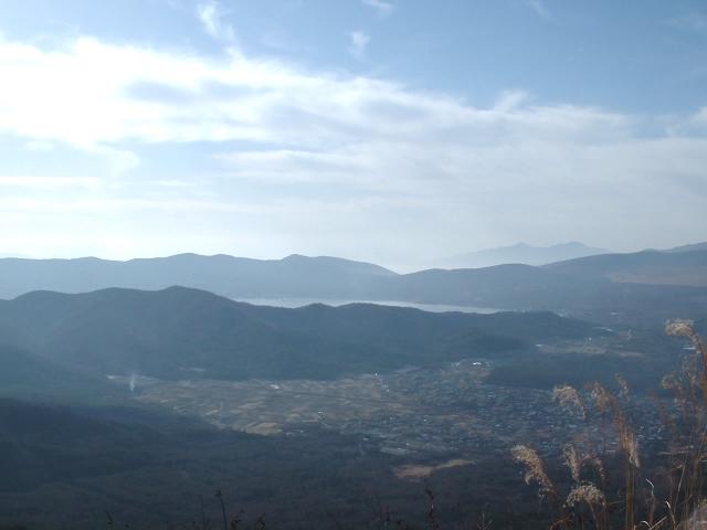 杓子山から見た山中湖方面の展望
