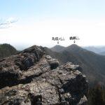 鶴脚山と馬頭刈山(つづら岩より)