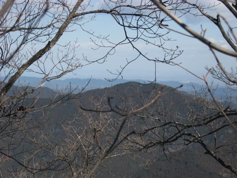 鶴脚山山頂から見える麻生山