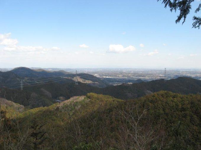 スカリ山山頂から見える街並み