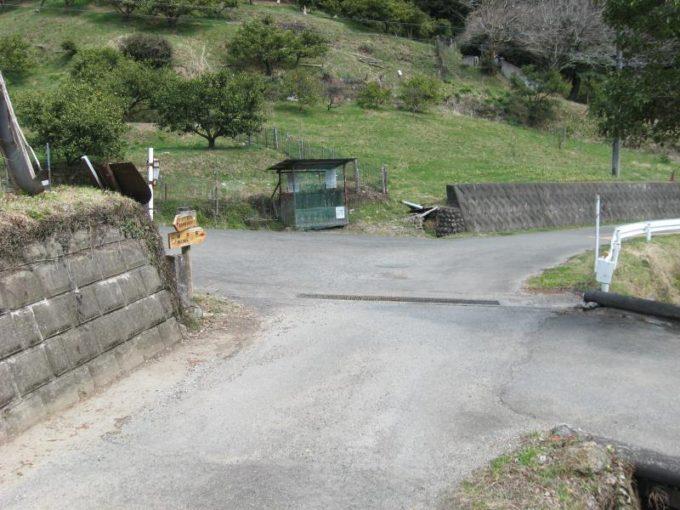 舗装道路と合流