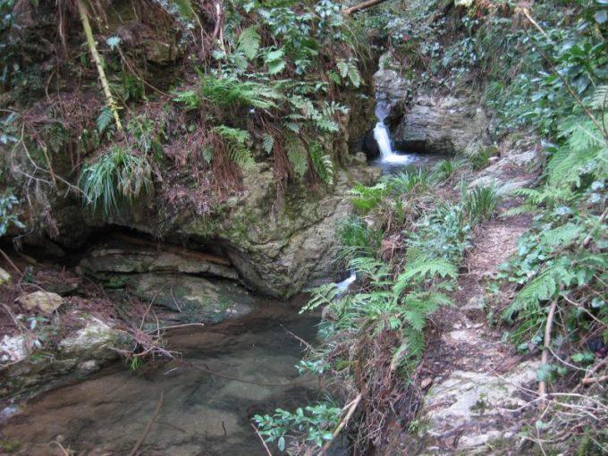 宿谷小滝は超ミニの二段の滝