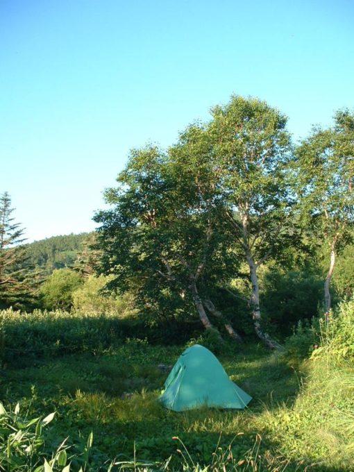 野反湖のテント場