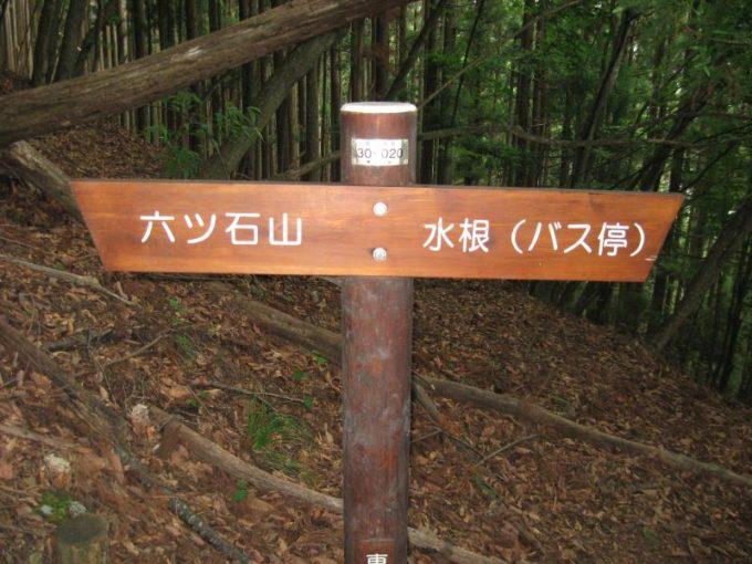 六つ石山への案内板