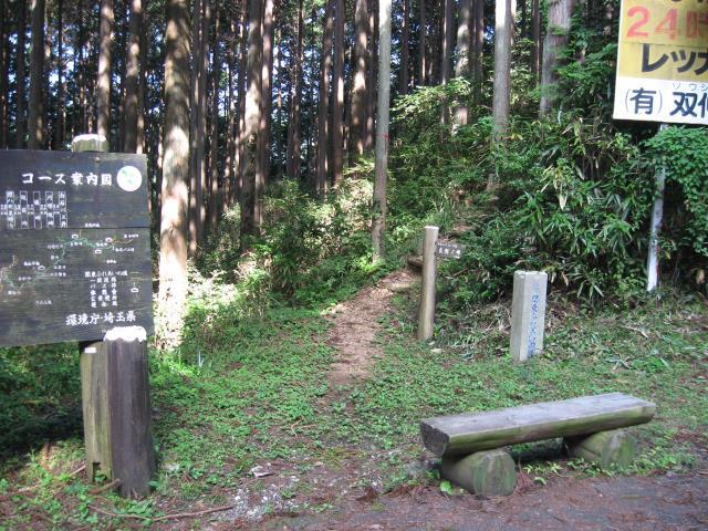 花立松峠へ向かう登山道入り口