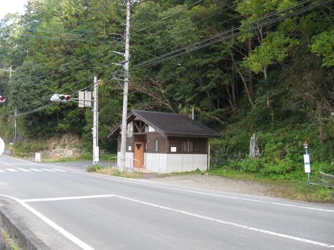 橋場交差点にある観光トイレ