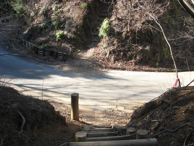 舗装された林道と2度目の合流