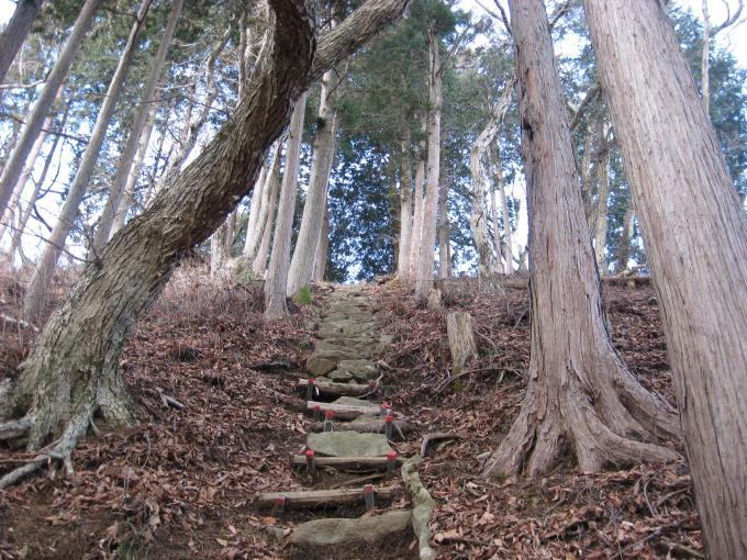 笠山神社への階段